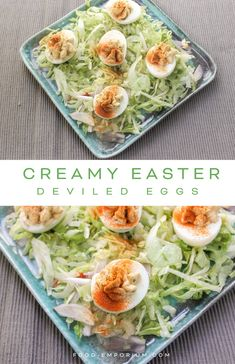 When you create a healthy salad for lunch, You can decorate your salad with these stuffed eggs appetizers. This is one of our easy cream cheese recipes. #healthysaladforlunch #Stuffedeggsappetizers #Easycreamcheeserecipes food-emporium.com
