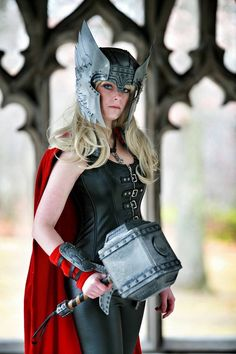 Thor cosplay, Lady Thor, female Thor, genderbent, girl cosplay, girl power, Avengers, Marvel. Photo by Adrian Gibbs photography. Cosplay 10.6.