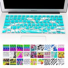 """Amazon.com: Allytech Keyboard Cover Silicone Skin for MacBook Pro 13"""" 15"""" 17"""" (with or w/out Retina Display) iMac and MacBook Air 13"""" (Blue little fish): Computers & Accessories"""