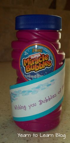 Bubbles of Summer Fun - end of year gift idea
