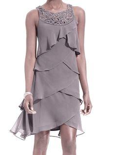 SL Fashions Tiered Cocktail Dress - SL Fashions Dress - Pinterest ...
