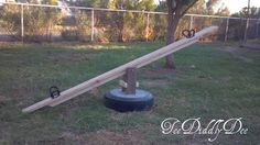 How to Repurpose an Old Tire into a Seesaw DIY Tutorial | iCreativeIdeas.com Follow Us on Facebook --> https://www.facebook.com/icreativeideas