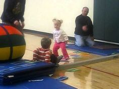 Toddler Gymnastics. Our daughter loves the homemade version we made out of construction paper.