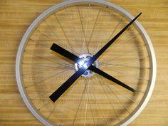 Mountain Bike Wheel Clock. Great idea.$109.99 upcyclebicycle