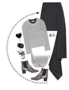 """Black + Gray"" by cherieaustin ❤ liked on Polyvore featuring Victoria Beckham, Balenciaga, Bottega Veneta, Isabel Marant, Mulberry and NYX"