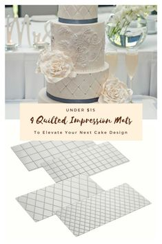 Perfect impression mats for fondant and buttercream cakes. This set is a steal at under $15. #fondant #impressionmats #imprint #cakeboss #cakes #cake #buttercream #sweets #yummy #delicious #mats #quiltingmats #ad