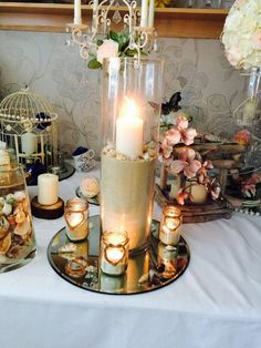 Wedding decorations job lot glass jars bunting hessian vintage 60cm large cylinder vase hire only to rent in sale cheshire preloved junglespirit Images