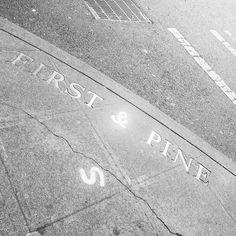 First & Pine #seattletype #wayfinding #environmentaldesign