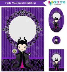 Festa Maleficent mod:1032 Maleficent Printable party