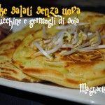 Pancake salati light  (senza uova) con germogli di soia