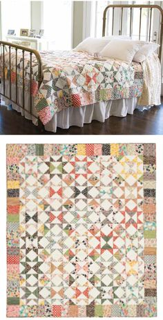 = free pattern = Starring Repros star quilt at McCall's Quilting - not my usual cup of tea but really pretty nevertheless Star Quilts, Scrappy Quilts, Mccall's Quilting, Quilting Projects, Quilting Designs, Quilt Blocks, Star Blocks, Quilting Ideas, Craft Projects