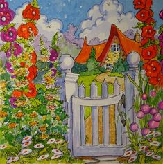 """The Cottage Gate Storybook Cottage Series""  © Alida Akers"