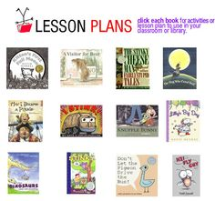 lesson plans for a variety of kids' books- my favorite kind of therapy activity!