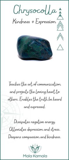 Chrysocolla is one of my favorite stones as it helps us to communicate more gently