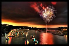 3) Take a boat out on Lady Bird Lake on the Fourth of July for one of the most romantic evenings you will ever have.