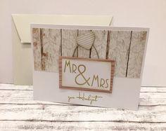 Hochzeitskarten - Hochzeitskarte MR & MRS - ein Designerstück von POMMPLA bei DaWanda