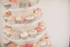 cupcakes caissettes argentées