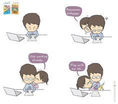 Love Cartoon Couple, Cute Couple Comics, Couples Comics, Comics Love, Cute Couple Art, Cute Comics, Funny Comics, Romantic Couple Quotes, Cute Couple Quotes