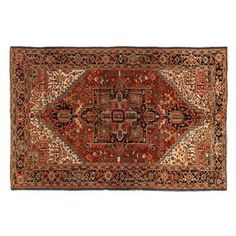 "Check out this item at One Kings Lane! 8'x11'10"" Davey Rug, Red"