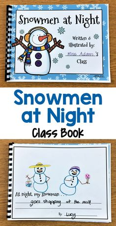 Snowmen at night writing activity - these cute winter writing prompts are great to use anytime during the winter season. they are perfect to spark your Literacy Activities, Kindergarten Activities, Kindergarten Class, Preschool Ideas, Teaching Ideas, Snowmen At Night, First Grade Writing, Winter Activities, Winter Theme
