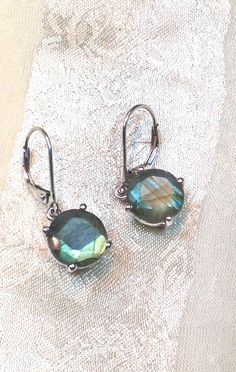 Labradorite Earrings in Sterling Silver Handmade by NorthCoastCottage Jewelry Design & Vintage Treasures, $149.00