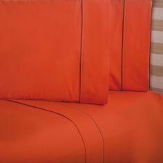 Sábanas Elegance Naranja #Recamara #Sabanas  #Hogar #IntimaHogar   #Decoracion