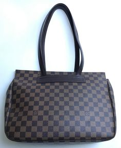 Louis Vuitton Damier Ebene Canvas Parioli Pm Brown Tote Bag. Get one of the hottest styles of the season! The Louis Vuitton Damier Ebene Canvas Parioli Pm Brown Tote Bag is a top 10 member favorite on Tradesy. Save on yours before they're sold out!