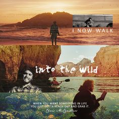 When you want something in life you just gotta reach out and grab it. Christopher McCandless. Into the Wild