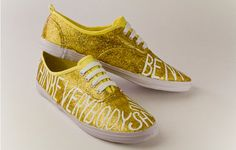 Warhol Quote Shoes by ElleryandAnna on Etsy, $65.00