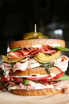 Stack up all the components of an antipasto platter for a sandwich that's molto bene. Get the recipe from Delish.