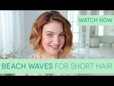 How To: Get Beach Waves for Short Hair via Birchbox https://www.youtube.com/watch?v=595lTXhrl2Y&app=desktop