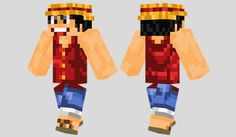 Monkey D. Luffy Skin para Minecraft