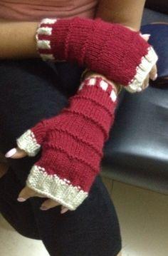 Fingerless mitts for my Aunty Antoinette.