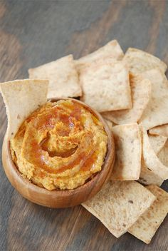 spicy sweet potato hummus - gotta try this!