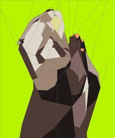 (7) Name: 'Quilting : Praying otter