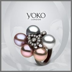 """""""Meet the latest arrival to our #KaleidoscopeCollection. Take note of the intense natural colour of the pearls"""""""