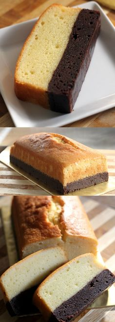 Brownie butter cake – thick brownie and rich butter cake combined into one decadent and to-die-for cake, a must-bake | rasamalaysia.com