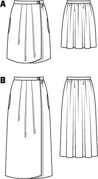 Wrap Pleated Skirt 02/2015 #121A – Sewing Patterns | BurdaStyle.com