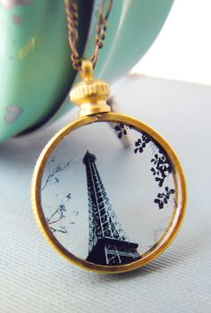 Eiffel Tower Silhouette Necklace