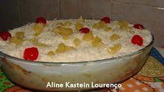 Bolo de Abacaxi de travessa com creme de leite ninho - Culinária-Receitas - Mauro Rebelo