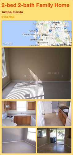 2-bed 2-bath Family Home in Tampa, Florida ►$104,900 #PropertyForSale #RealEstate #Florida http://florida-magic.com/properties/81590-family-home-for-sale-in-tampa-florida-with-2-bedroom-2-bathroom