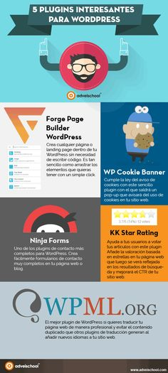 5 plugins interesantes para WordPress #infografia