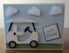 Golf Cart punch art - bjl