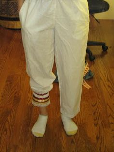 make pantaloons from thrift store scrub pants--tutorial