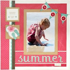 Summer scrapbook page idea from #CTMH. #scrapbooking