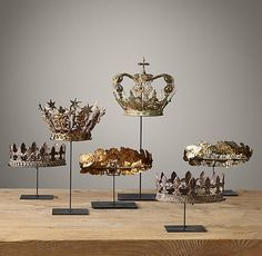 19TH C. Crowns On Stand Collection
