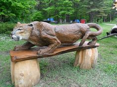 Chainsaw Wood Carvings and sculptures by Jim Menken, Canadian Chainsaw Carver and Artist, carving in Orangeville, Toronto, Mississauga and other parts of Ontario