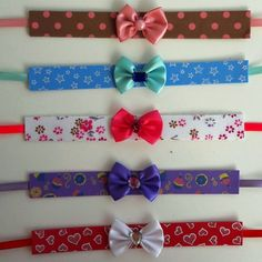 Gargantilha em EVA decorado (10 unidades) - Lacinhos CJ Bandana Bow, Pet Raccoon, Cat Collars, Cute Funny Animals, Pet Shop, Dog Treats, Lily, Bows, Accessories