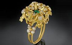 Agnieszka Winograd. Emerald w/ Diamonds
