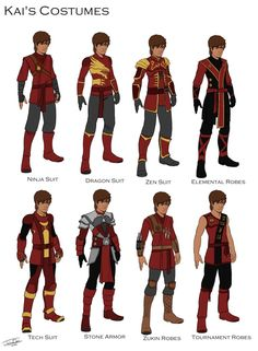 Kai's Costume designs by joshuad17 on DeviantArt
